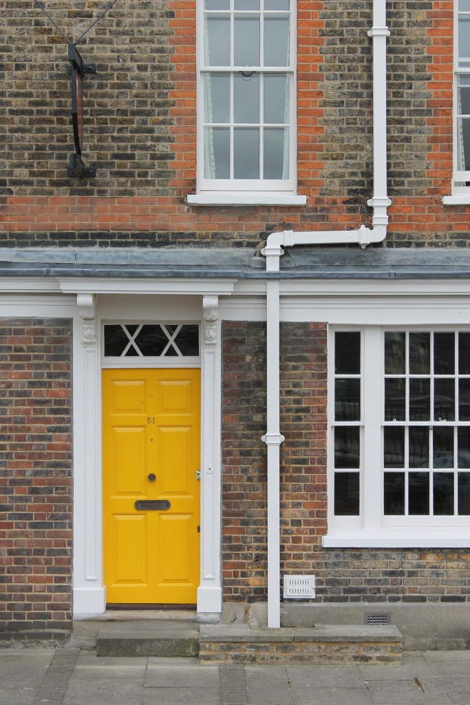 Yellow door, London