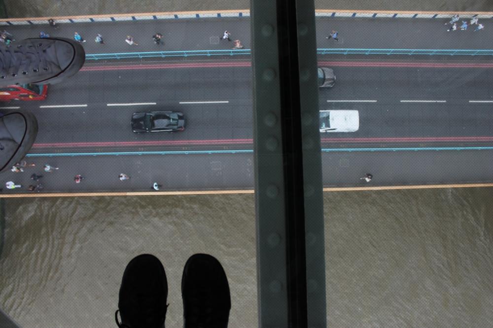 Tower Bridge - the walkway glass floor