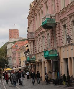 Vilnius city centre with the castle in the background