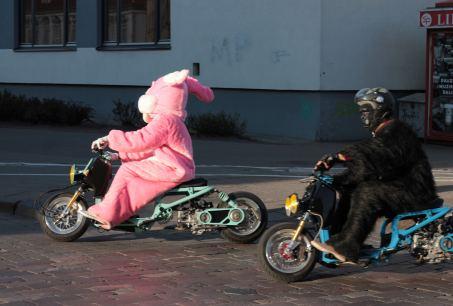 Crazy motorcyclists in Vilnius