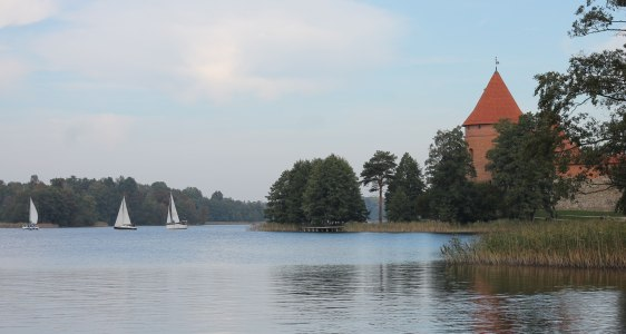 Trakai, a castle on a lake