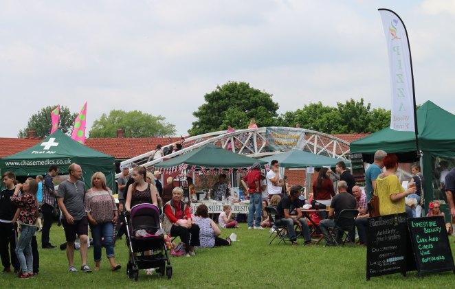 Etruria Canal Festival stalls