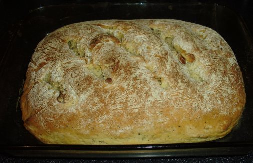 Garlic and herb bread (Paul Hollywood mix) - baked
