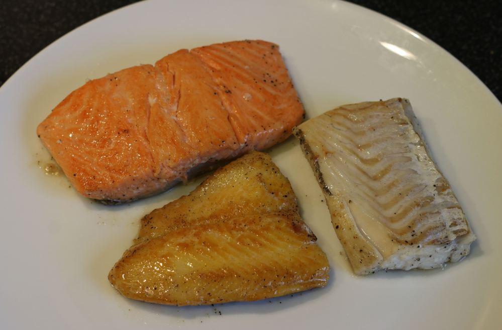 Fish fillets salmon smoked cod