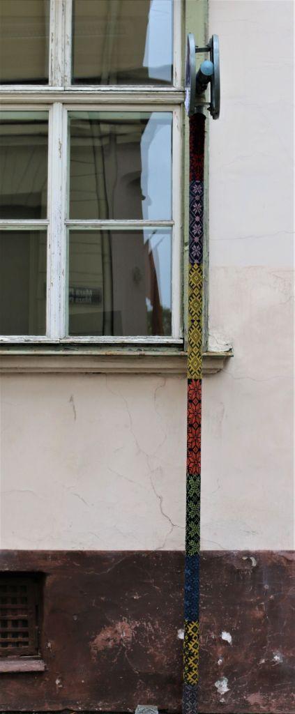 Street art Riga yarnbombing