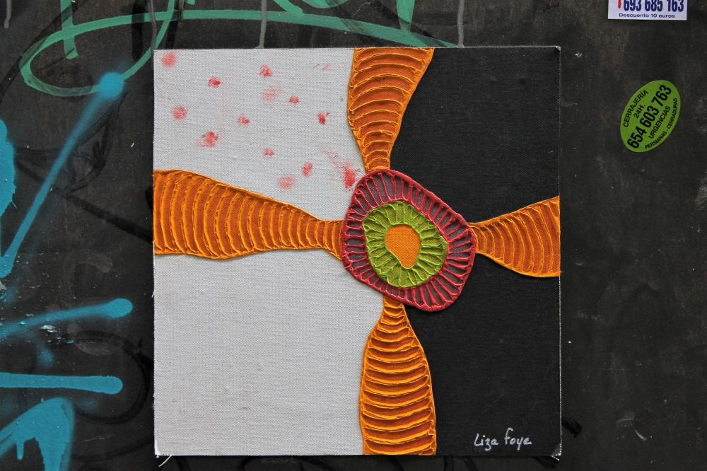 Street art colourful Barcelona