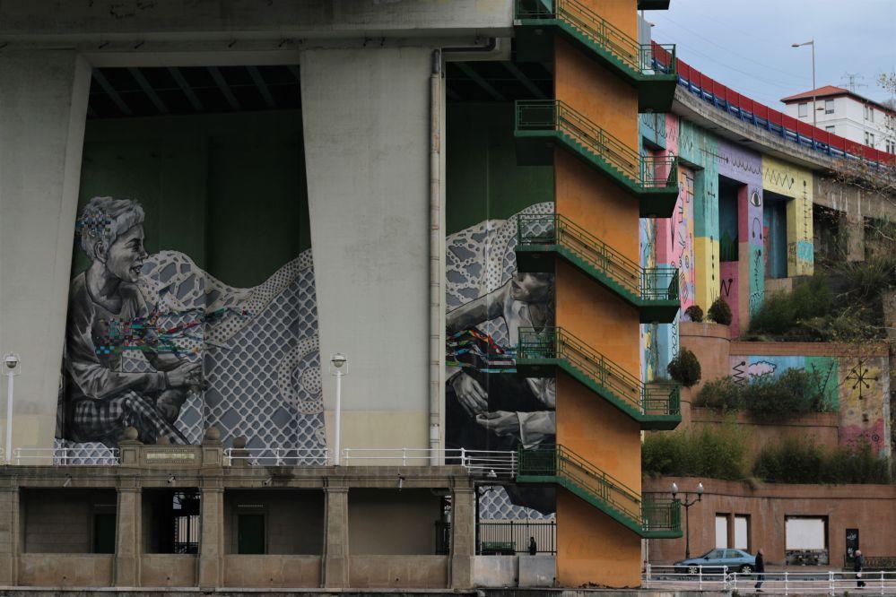 Street art graffiti Bilbao