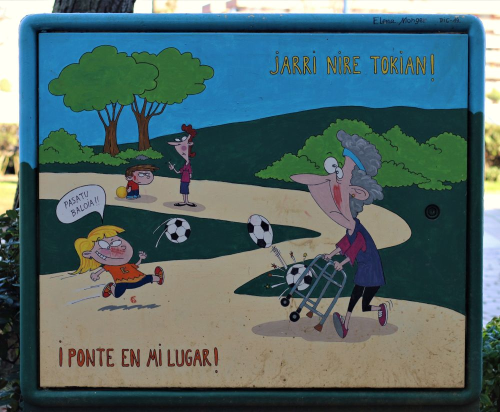 Educational street art, Bilbao