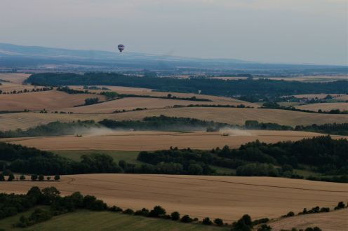 Hot air balloon flight - harvest in full swing