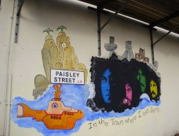Beatles, Yellow Submarine, street art, Paisley Street, Liverpool