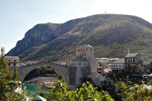 Bridge Mostar jumping Bosnia