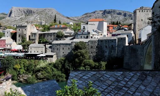 Mostar Bosnia mountains old town