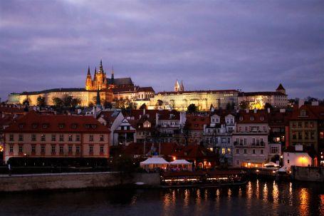 Prague panorama photo castle