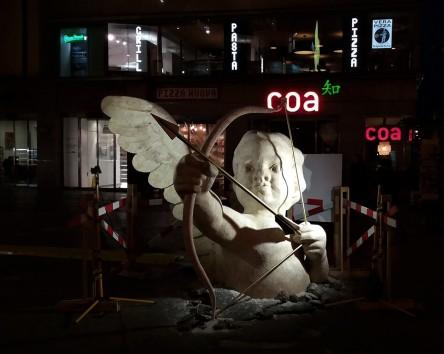Náměstí Republiky, Prague, Kotva, Valentine, angel, amor, statue