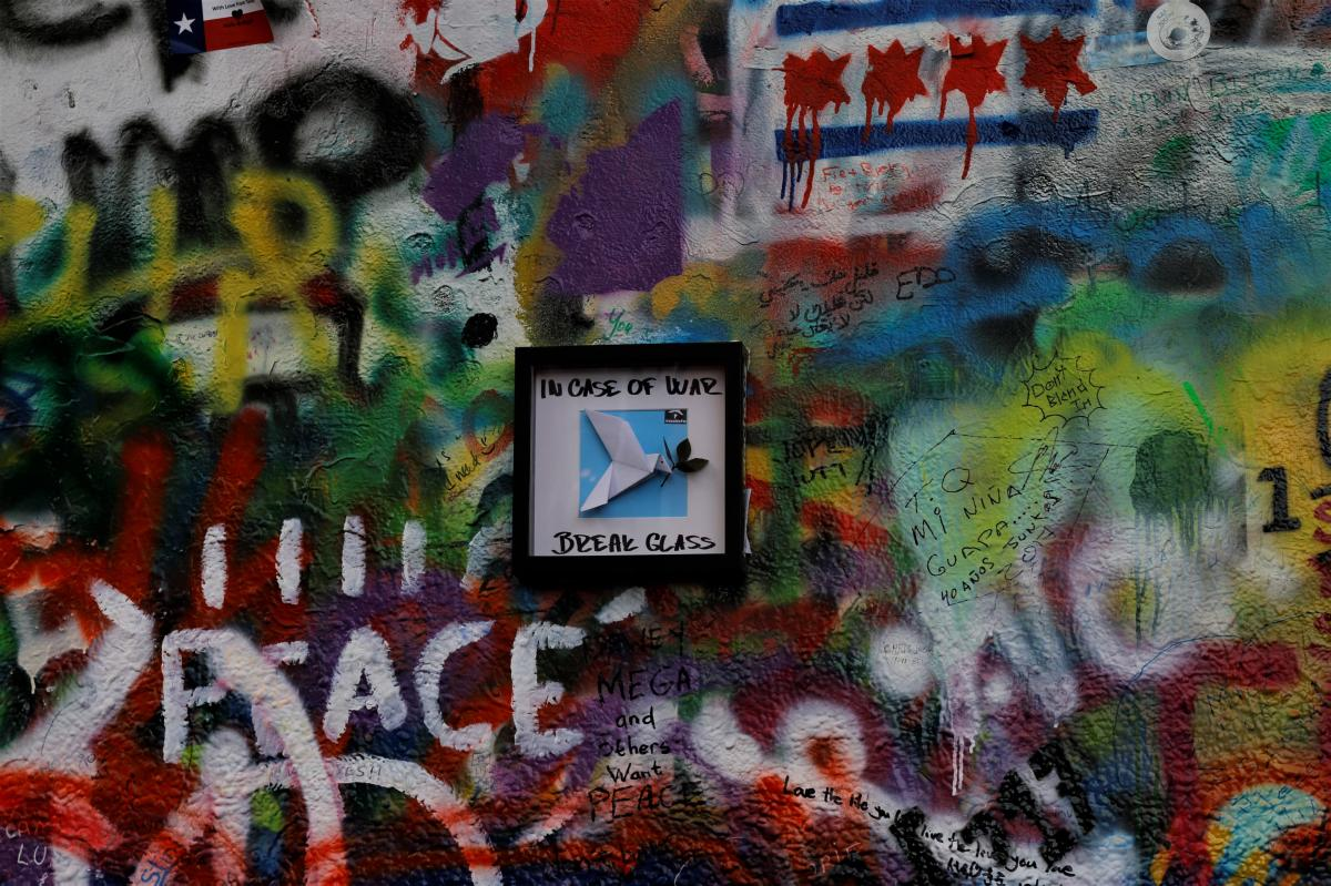 Street art Saturday: Lennon Wall in Prague