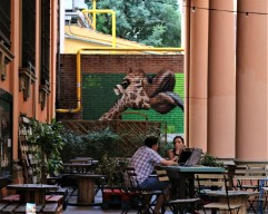 Street art Bologna giraffe