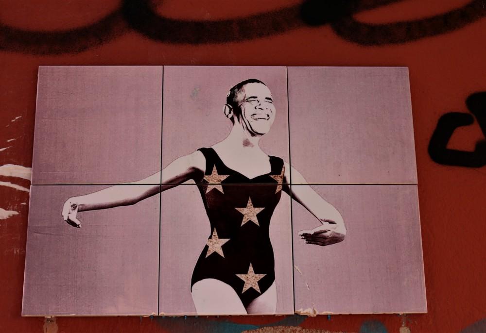Street art Bologna Obama