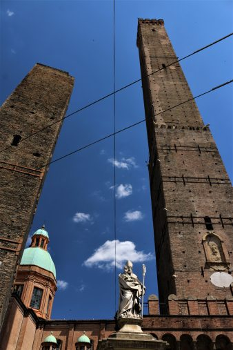 Two leaning towers in Bologna