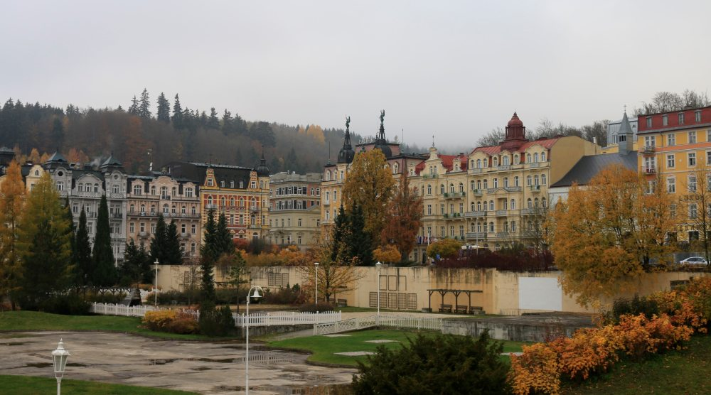 Czech spa town Marianske Lazne in autumn