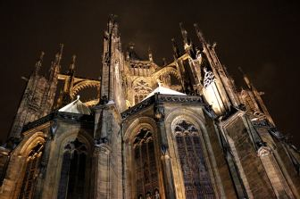 St Vitus Cathedral at night Prague