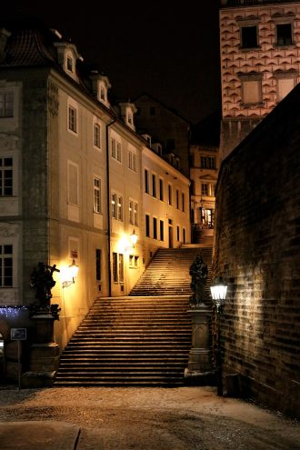 Staircase, Nerudova street, Prague castle