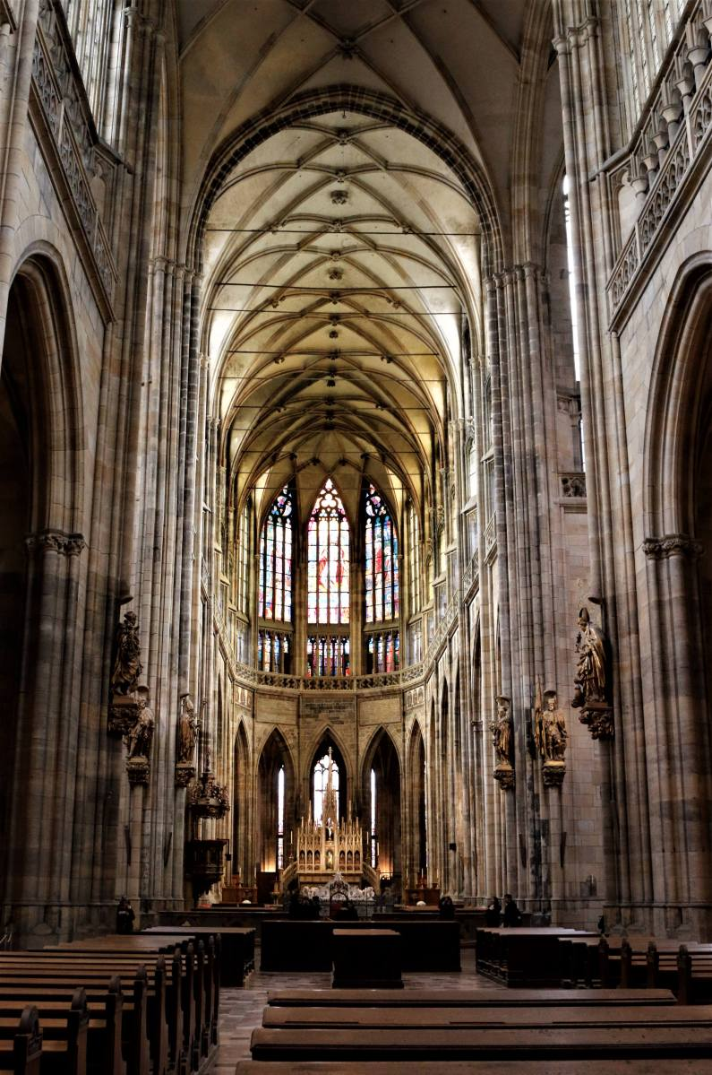 Inside the St Vitus Cathedral