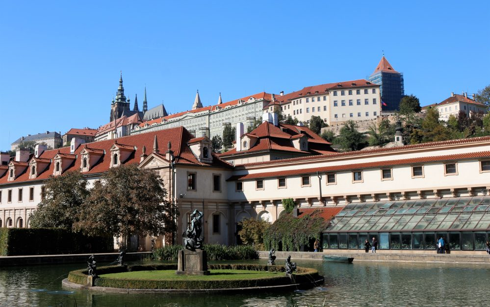 Wallenstein Garden with the view of the Prague Castle